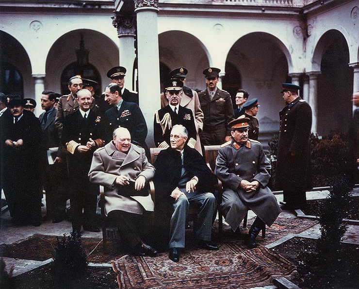 Churchill en Stalin